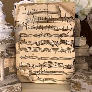 Beautiful vintage musical motif memory tile